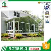 Energy saving customized aluminum garden glass house