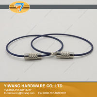 China supplier stainless steel wire colorful keyring wholesale