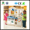 Top 10!! double-sided mini kitchen set toy child's kitchen toys for sale made in china QX-162G