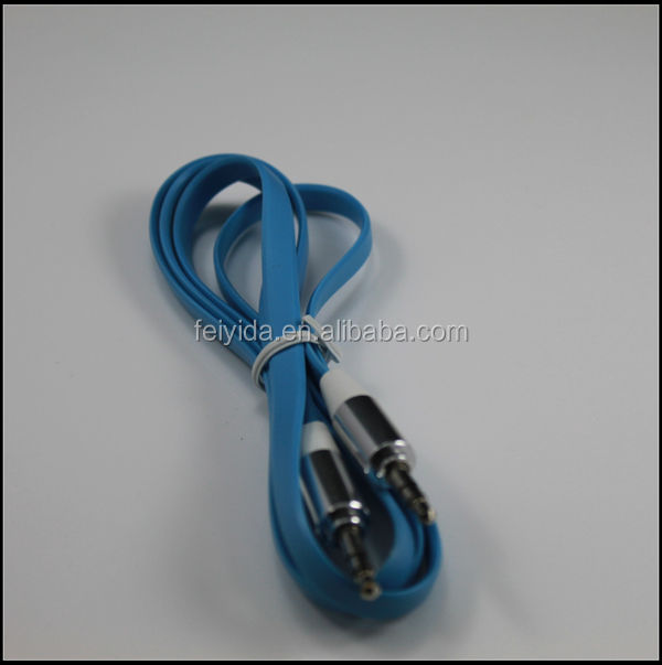 3.5mm male to male 3.5mm double jack audio cable adapter, audio extension aux cable for phone