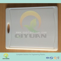 Pure White Chopping Board Flexible HDPE