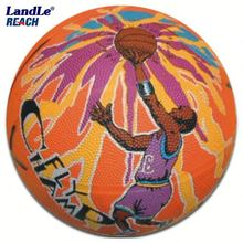 Photo customized hot sale wholesale rubber made #6 American basketball