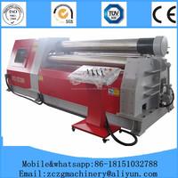 w11S 3 roller hydraulic steel plate rolling machine/hydraulic upper roller universal bending machine