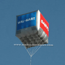 Popular square advertising hot air inflatable helium balloon with custom logo printed for promotion