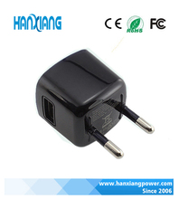International trending products EU/US plug home chargers adapter 5V1A usb wall charger adapter mobile phone charger with black