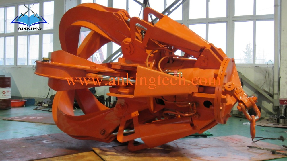 0.35M3 Overhead Crane Grapple iron /coke/ steel scrap/garbage electro hydraulic orange-peel grab