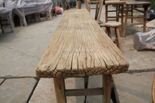 Outdoor wholesale rustic reclaimed wood furniture chinese antique old pine made furniture rustic table