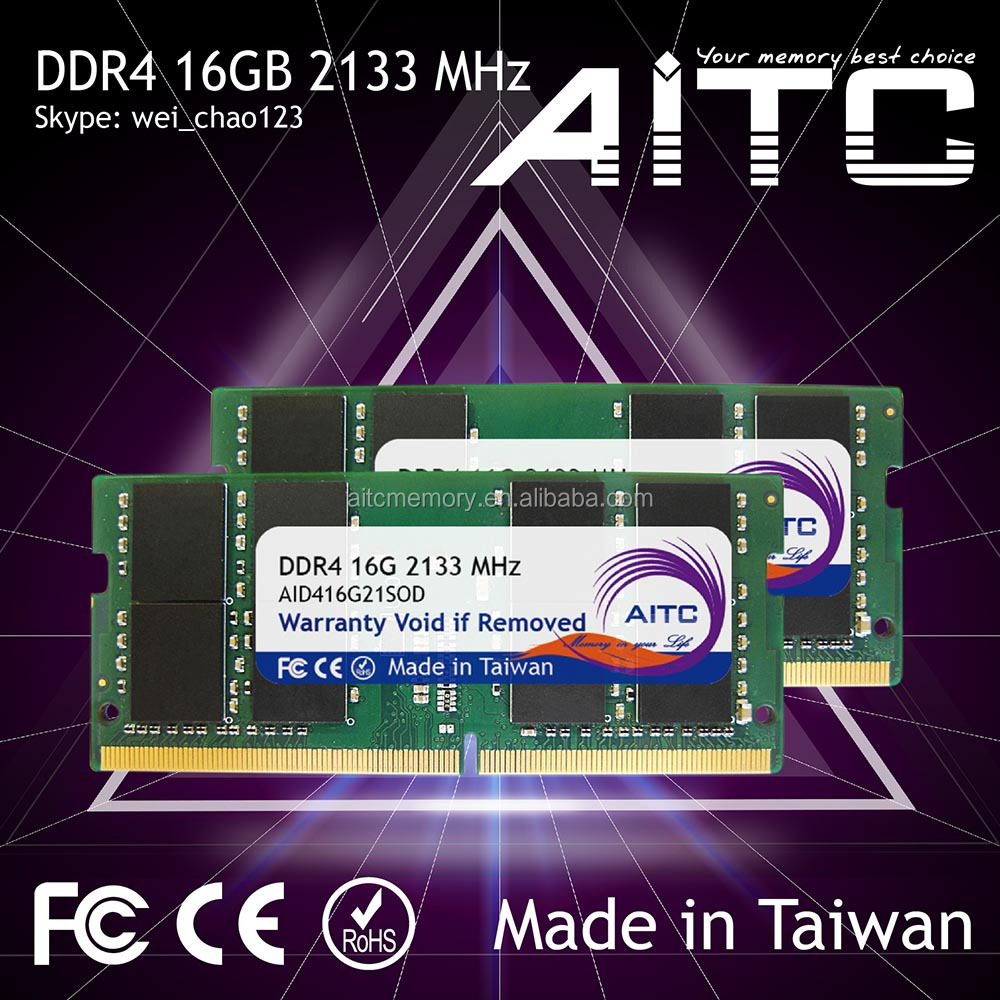 High performance AITC 2133 mhz 16gb DDR4 ram sodimm for laptop