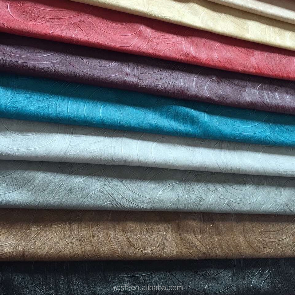 Textiles Leather Products 2017 Decorated PVC