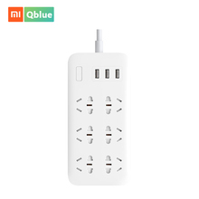Xiaomi Mi 6 Sockets Power Strip with 3 USB Ports Switch Plug 1.8m Standard Extension Socket Adapter Patch Board