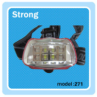 plastic 90 lumen led headlamp aa battery head flashlight with white and red light