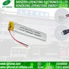 3.7v 750mah li-ion polymer rechargeable battery lipo battery cell 651273for MP3 MP4