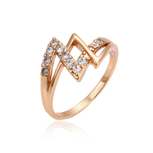 11118-Newest special design brass double finger ring