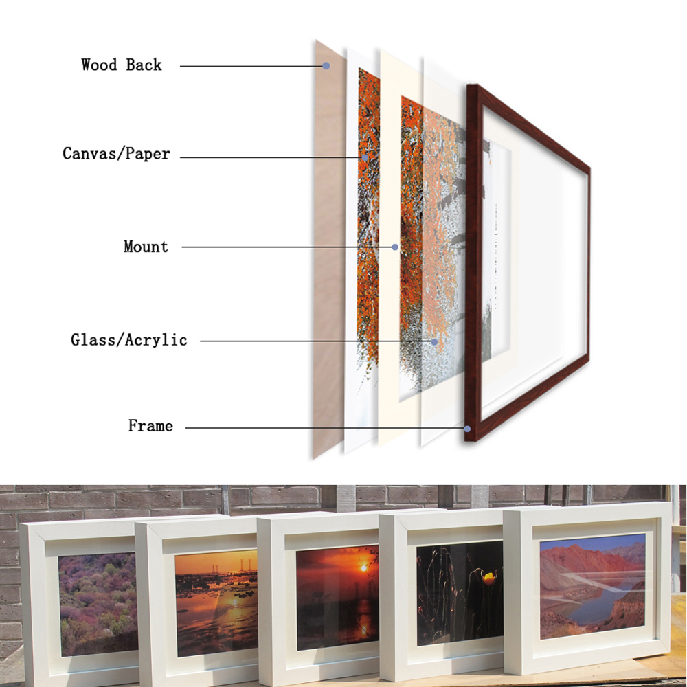 Modern artwork custom picture frames