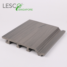 Timber Vinyl Light Grey Wood Composite Wpc House Wall Siding Panel