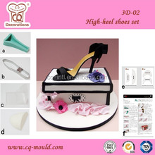 Cake Decoration Silicone 3D High Heel Shoes Mold