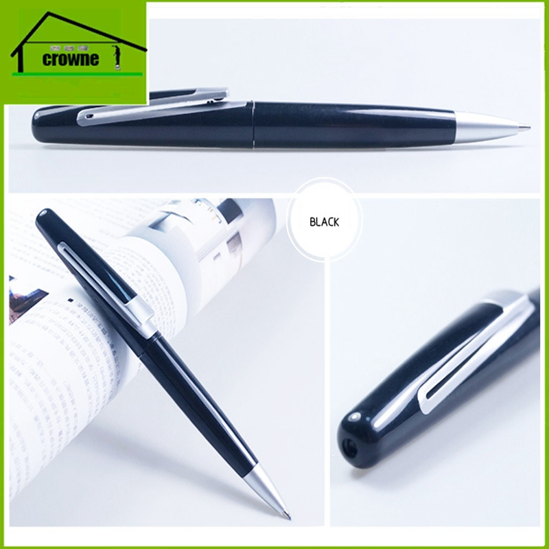 Customized Logo Heavy Black Metal Pen with Box for Gift