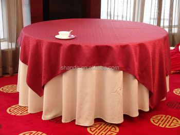 5 star hotel plain white damask table coth