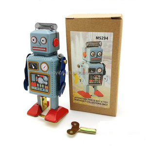 Wholesale Japan circa 1940s retro tinplate model classic wind up robot toy
