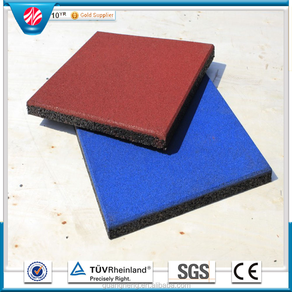 Eco-friendly outdoor Thick Soft Playground Gym Floor Rubber Pavers/Tiles