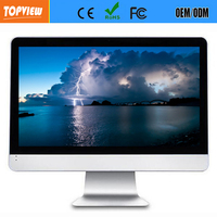full hd wifi 27 inch LCD advertising touch monitor all-in-one PC