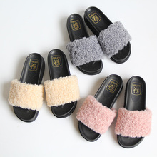 Japanese soft sister cold slippers women's pure color candy flat bottom drop shipping thick bottom woman slider