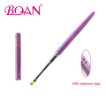 BQAN New Design Factory Wholesale Diamond Painting Nail Art Gel Brush With Purple Metal Handle