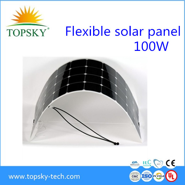 OEM full certified china supplier high efficiency flexible solar panels 100w 120w For Home,Car,Boat Use