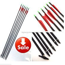 "Length 30"" OD 7.6mm ID 6.2mm Spine 340 Pure Carbon Arrow Shaft for Hunting/Shooting /Archery Outdoor"