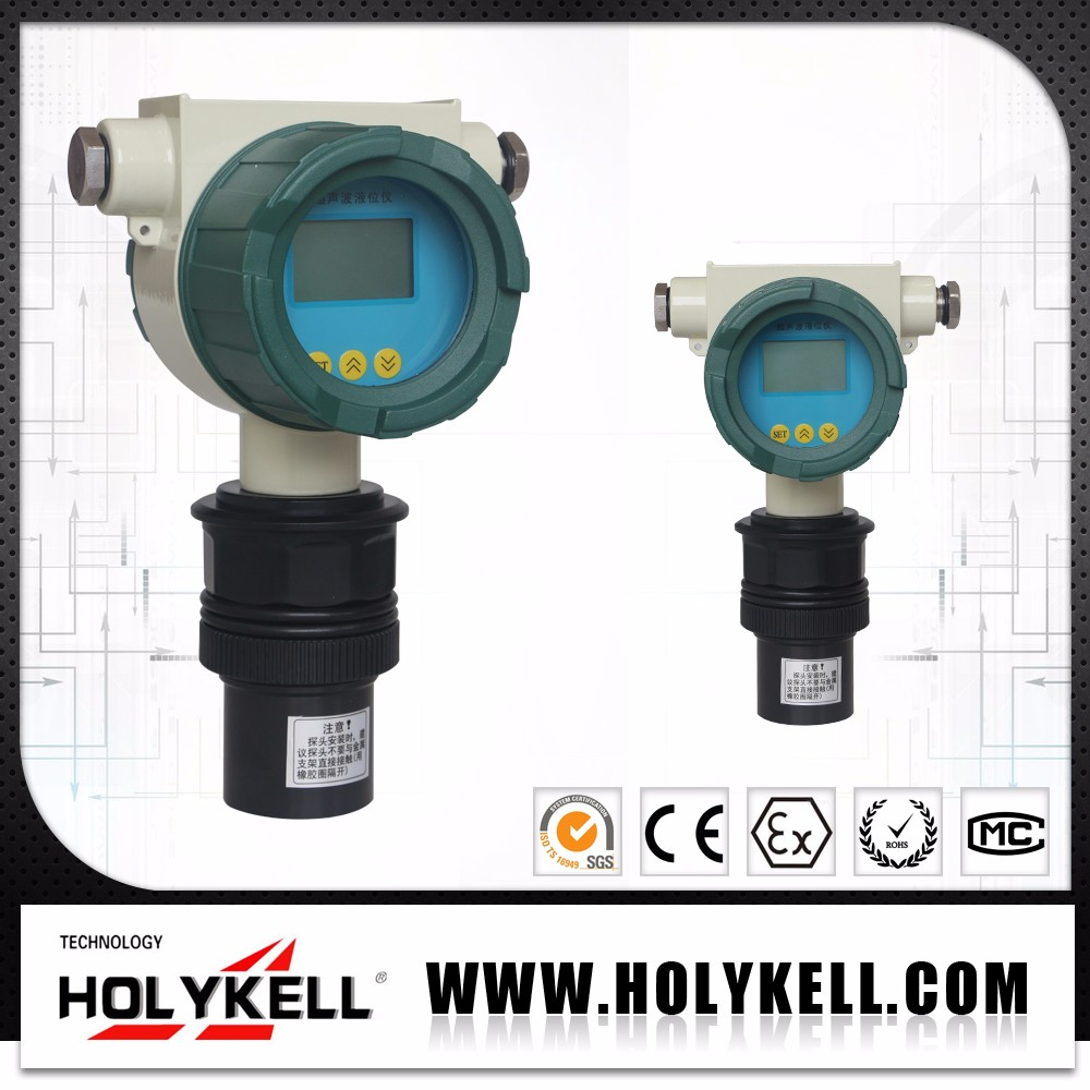 Holykell factory RS485 4-20ma Ultrasonic Fuel And Water Tank Level Meter ,Ultrasonic Level Transmitter UE US series