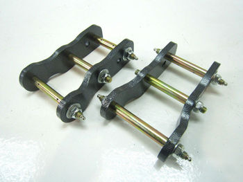 "Rear Leaf Spring 2"" Lift Up Greasable Shackles Suit Fit For Vehicle Mitsubishi Pajero Montero 82-90"