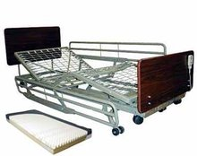 Deluxe Institutional Electric Adjustable Hospital Bed Package w/ Half Rails