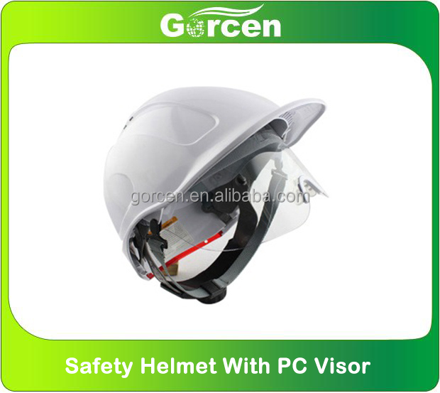 safety helmet with PC visor Industry safety helmet with PC face shield