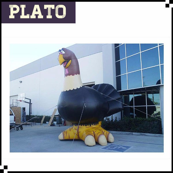 Giant airtight colorful festival parade inflatable turkey for advertising