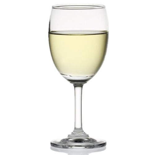 Crystal Plastic Wine Glasses with Thick Stem