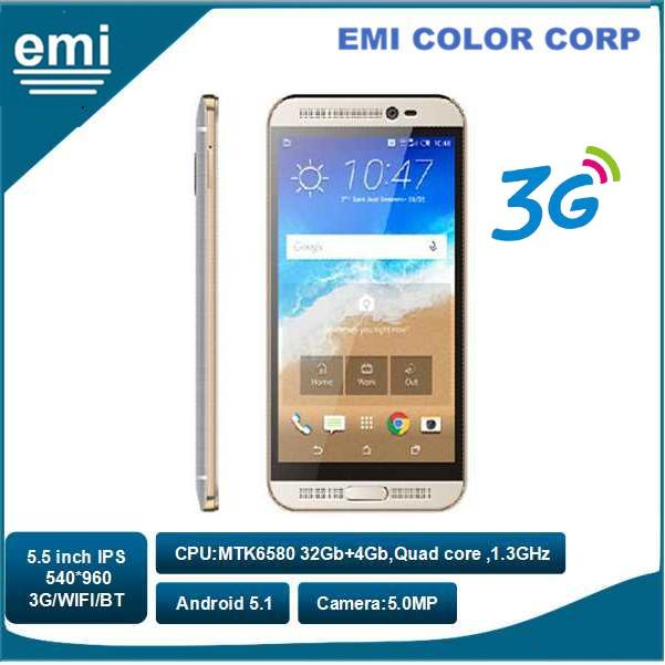 Capacitance Touch 5.5 inch Screen Mobile Phone ,Dual SIM Dual Standby Android Camera 5.0MP 3G Smart Phone