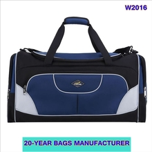 hot selling waterproof lightweight nylon detachable adjustable shoulder strap hand carry holdall bag travel duffle bag