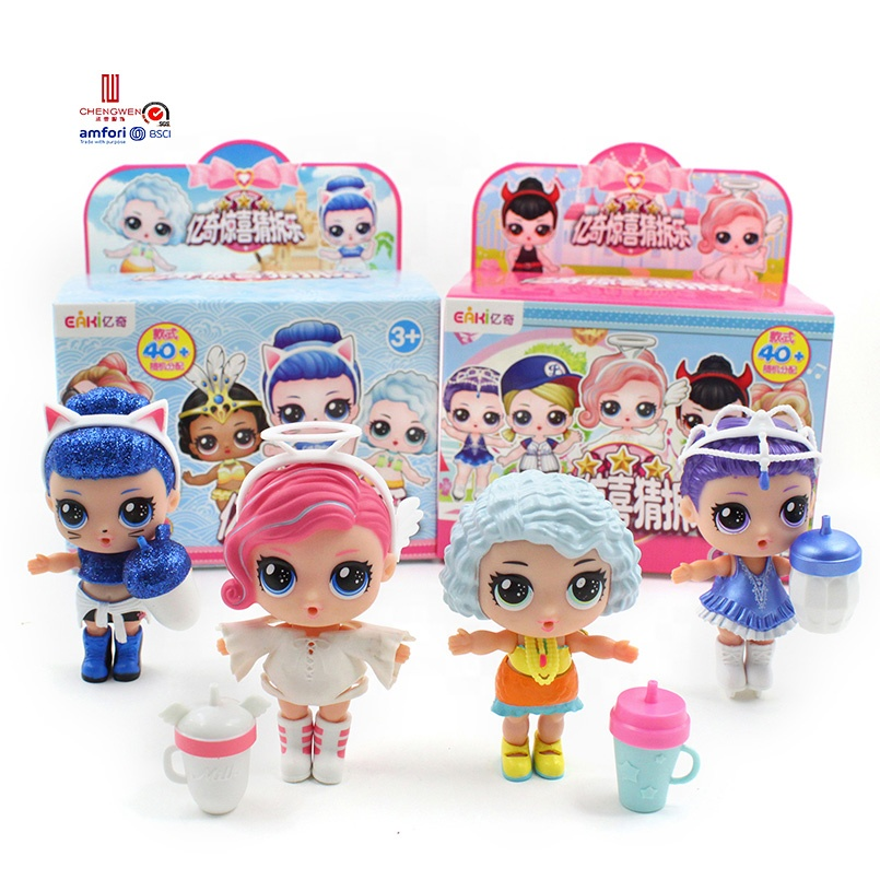 Bestseller 2019 baby kids children glam glitter / water change color ball toys surprise <strong>doll</strong>