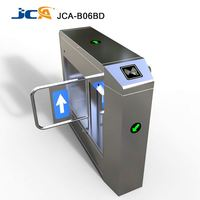 Fast pass bi-directional swing barrier security supermarket turnstiles swing automatic gate light