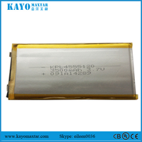 China supplier battery factory KPL4555120 3500mAh 3.7V li-ion battery pack removeable battery for tablet MID