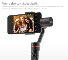 Wonew fast delivery 3 axis handheld gimbal stabilizer for smartphone