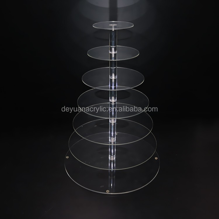 Cake Stand 2 3 4 5 6 7 Tiered Clear Acrylic Crystal Cake Stand For Wedding Party