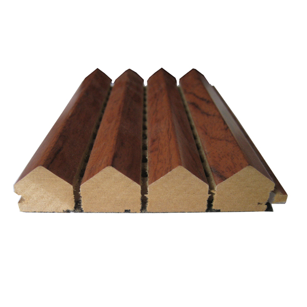 class E1 formaldehyde emission triangle wooden acoustic diffuser
