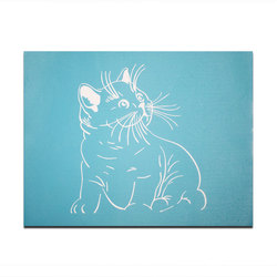 China Manufacturer Wholesale Cheap Decorative Cat Reusable Plastic Kids Children Wall Drawing Stencils