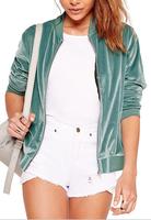 B31688A 2016 Plain design lady padded jacket women bomber jacket wholesale ladies sports jacket