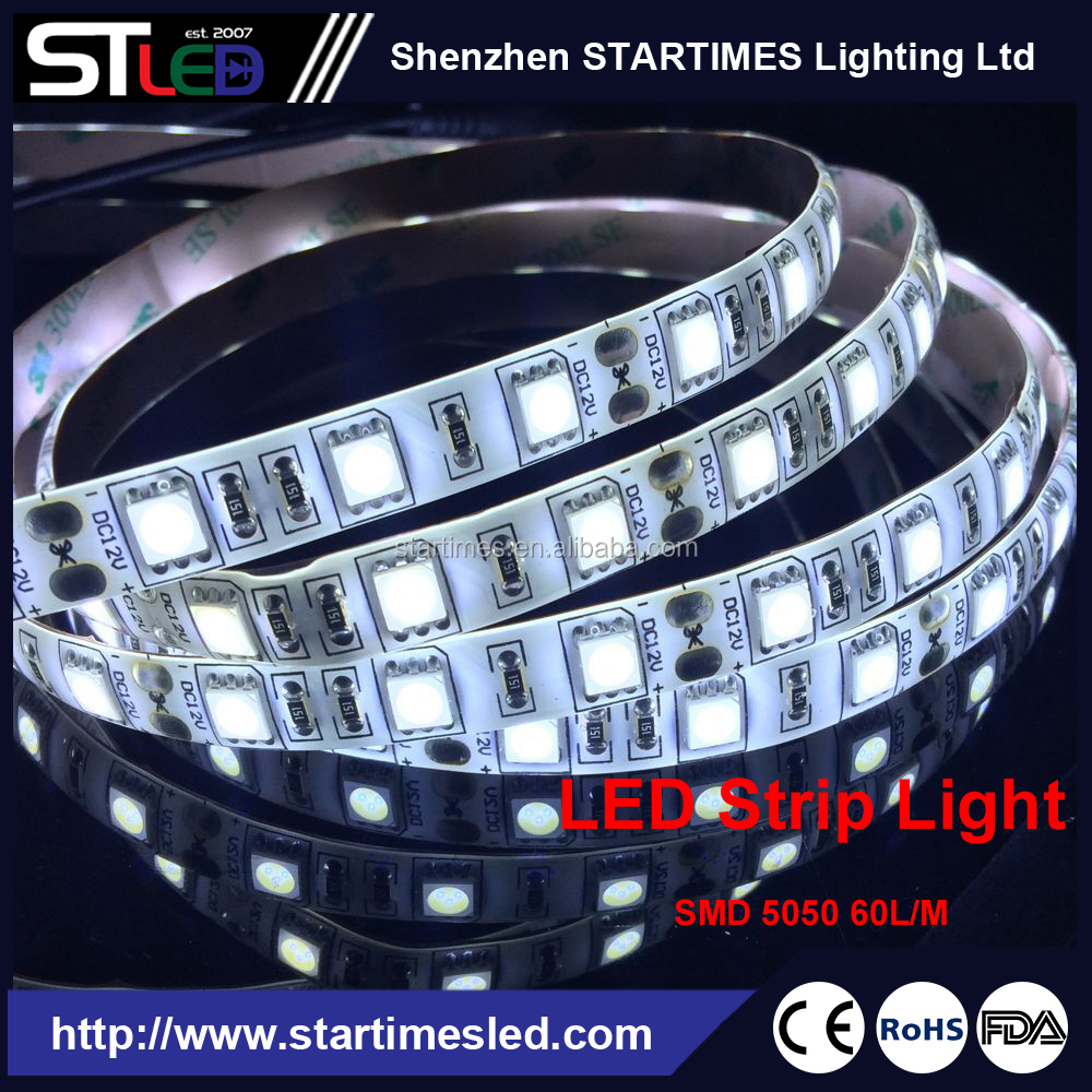 Cool White High Power LED Tape dimmable strip lights SMD 5050 LED single color ribbon lights-14W/M, DC12/24V