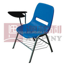 (Furniture)Plastic Chair with writing pad/board/tablet,for classroom used,school furniture