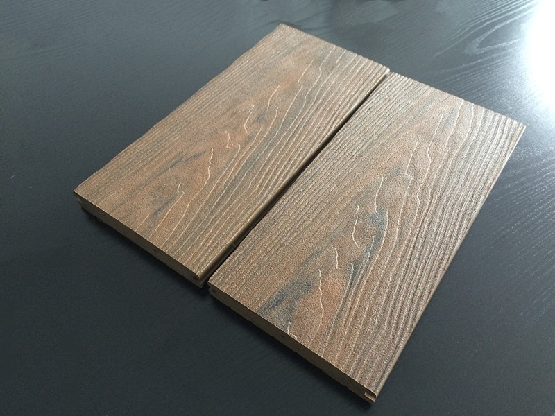 Ce certificate high quality outdoor wpc solid decking for Plastic wood flooring