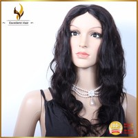 Machine sewn Chinese 100% virgin human hair large head size high end full lace wigs