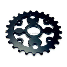 precision machining part high strength bicycle sprocket with anodize neo chrome surface